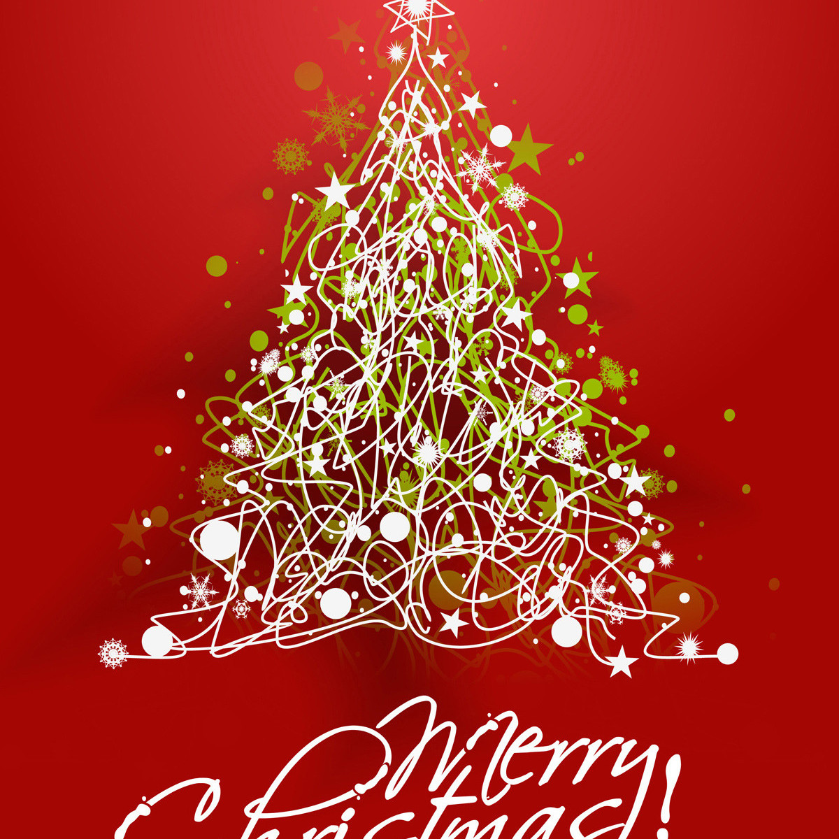 Merry Christmas Christmas Tree Red Beautiful The Mobile Wallpaper