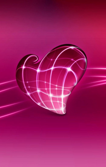 Love Heart I Love You Pink mobile wallpaper