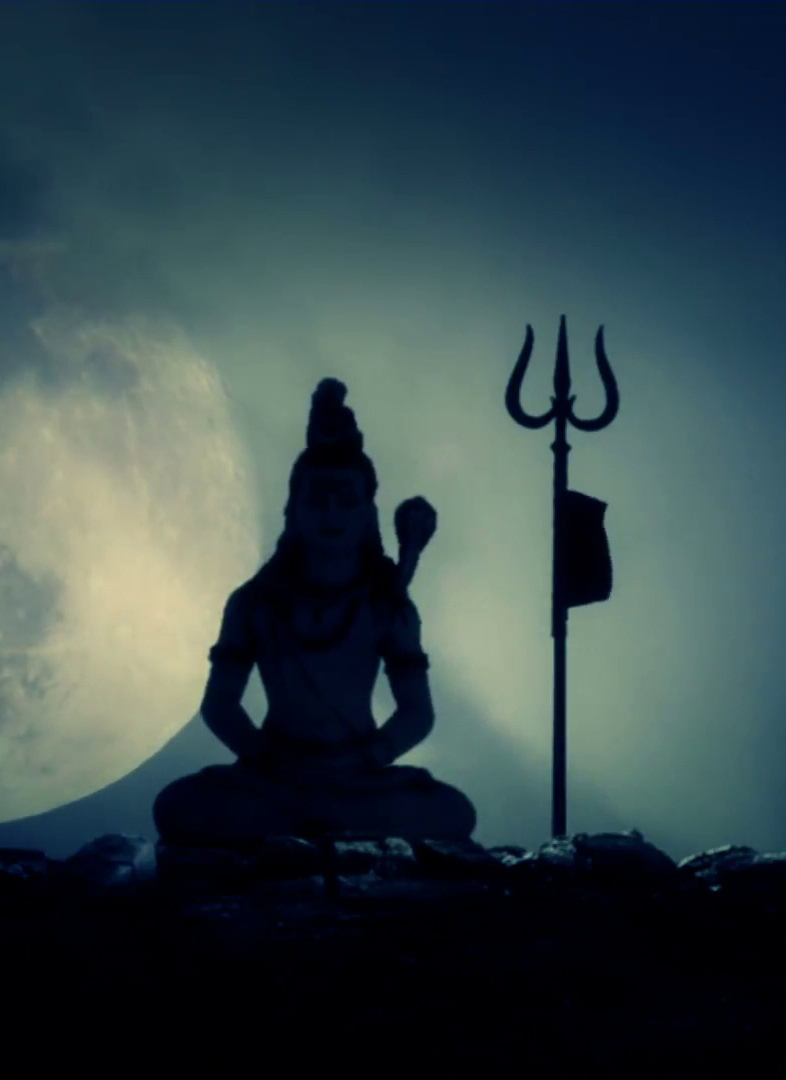 God Lord shiva beautiful in dark night